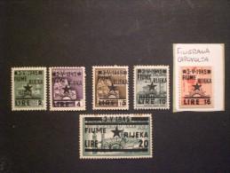 ITALIA OCCUPAZIONE JUGOSLAVIA - FIUME 1945 FRANCOBOLLI D ITALIA DEL 1944-45 MNH
