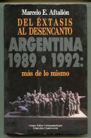 """""""DEL EXTASIS AL DESENCANTO"""" AUTOR MARCELO E. AFTALIÓN-EDIT.CONTROVERSIA-AÑO 1992-PAG.223 USADO GECKO - Culture"""