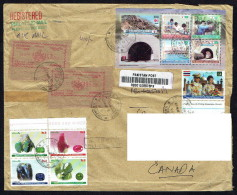 2012  Registered Letter To Canada Japan Cooperation Souvenir Sheet, Gems, - Pakistan
