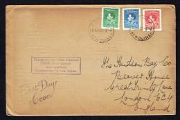 1937  King George VI Coronation  FDC To UK - Papua New Guinea