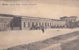 10207-MESSINA-PIAZZA ROMA-STAZIONE FERROVIARIA-ANIMATA-1915-FP - Stazioni Senza Treni