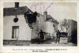 62 VILLERS Au BOIS Guerre 1914.1915 Maison Bombardée Animée - France