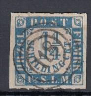 """Schleswig Holstein Michel 7   1 1/4 Sh 1864 - Heiligenhafen ++ Mit Klarem, Zentrischem 3 Ring """"118"""" - Schleswig-Holstein"""