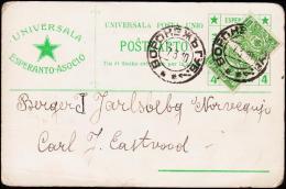 1910. UNIVERSALA ESPERANTO ASOCIO From Russland To Norge.  (Michel: ) - JF177703 - Esperanto