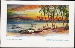1898. NATIVE FISHING BOATS, HAWAII.  (Michel: ) - JF177743 - Hawaii