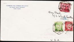 1934. 80 + 85 C + USA 3 Cents CORREOS TELEGRAFOS 23.5.34.  (Michel: ) - JF177757 - Briefmarken