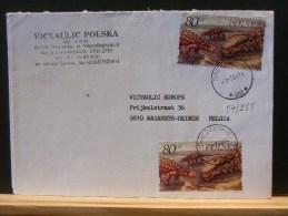 57/285   LETTRE  POLOGNE - Briefmarken