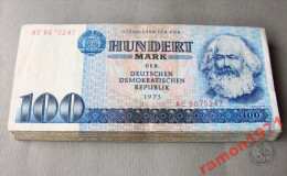 Germany - 100 Mark 1975 XF / VF+ - [ 6] 1949-1990 : GDR - German Dem. Rep.