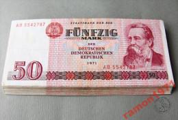 Germany Democratic Republic 50 Mark 1971 XF / VF+ - 50 Deutsche Mark