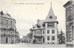NANTES:PLACE ET RUE CHARLES MONSELET - Nantes