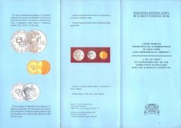 BULGARIA 1993 500,5000, 10000 LEVA COMMEMORATIVE COINS BROCHURE BOOKLET - Bulgaria
