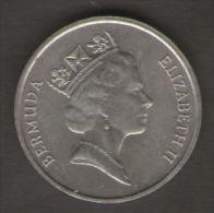 BERMUDA 5 CENTS 1987 - Bermudes