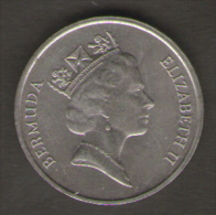 BERMUDA 5 CENTS 1987 - Bermuda