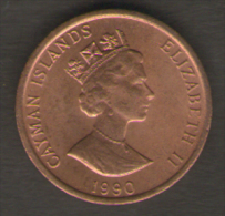 CAYMAN ISLANDS 1 CENT 1990 - Cayman (Isole)