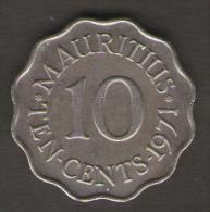 MAURITIUS 10 CENTS 1971 - Mauritius