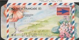 POLYNÉSIE  Année 1990  Aerogramme   N° Y/T :9  ** - Aérogrammes