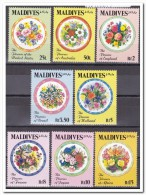 Maldiven 1992, Postfris MNH, Flowers - Maldiven (1965-...)