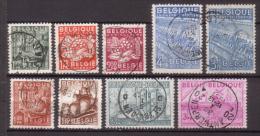 Belgien , 1948 , Mi.Nr. 805 - 808 / 810 - 814 O / Used - Used Stamps