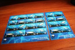 WWF Imperf !!! 2 Sheet  Nevis Fish - W.W.F.