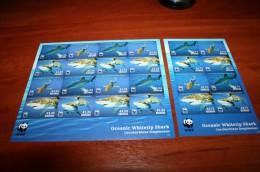WWF Imperf !!!  2 Sheet  Grenada  Fish - W.W.F.