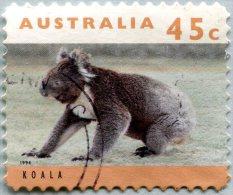 N° Yvert 1366 - Timbre D'Australie (1994) - U (Oblitéré) - Koala - Animal Isolé à Terre (DA)