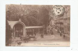Cp , 03 , VICHY , Galeries Couvertes Et Rue WILSON , Voyagée 1924 , Ed : Beguin - Vichy