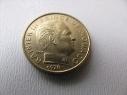 Rainier III : 5 Centimes 1976 TRES   RARE : 25 000 Ex  (Rac) - 1960-2001 Franchi Nuovi