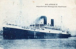 CPA    -   S/S   ATHOS   II   -    PAQUEBOT MESSAGERIES MARITIMES - Commercio