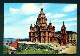 FINLAND  -  Helsinki  Uspenski Cathedral  Used Postcard As Scans - Finland