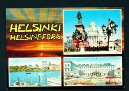 FINLAND  -  Helsinki  Helsingfors  Multi View  Unused (except For A Few Words/date) Postcard As Scan - Finland