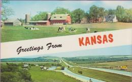 Usa °° Kansas Greetings 9x14 – écrite * LUXE - Kansas City – Kansas