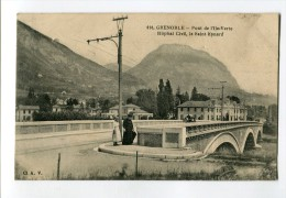 Ref 197 - GRENOBLE - Pont De L'Ile Verte - Hôpital Civil - Le Saint-Eynard (1924 - Timbre Des Jeux Olympiques Au Verso) - Grenoble