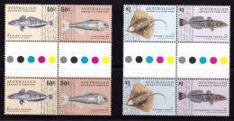 Australian Antarctic 2006 Fish Set As Gutter Pairs MNH - - Unused Stamps