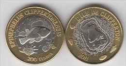 CLIPPERTON 200 Francs 2011 Bimetal, Unusual Coinage - Monete