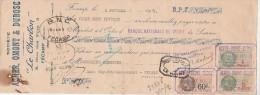 Lettre Change 6/2/1931 ACHER OMONT & DUBOSC FECAMP Seine Maritime Pour Sècheries Modernes EV - Lettres De Change