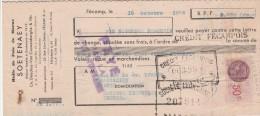 Lettre Change 16/10/1948 SOETENAEY Huile De Foie De Morue FECAMP Seine Maritime Pour Anduze Gard - Letras De Cambio
