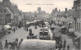 France  CPA 59 -  CASSEL, La Place Un Jour De Marche,  Market Place - France