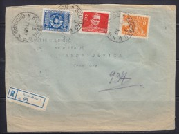 7728. Yugoslavia, 1947, Registered Letter With Official Stamp - 1945-1992 Socialist Federal Republic Of Yugoslavia