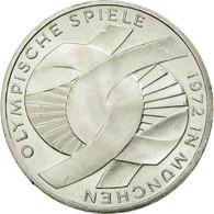 GERMANY - FEDERAL REPUBLIC, 10 Mark, 1972, Karlsruhe, SUP+, Argent, KM:131 - [10] Commémoratives