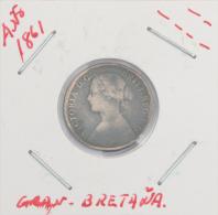 MONEDA VICTORIA D: G: BRITT:REG:F:D:1861-FARTHING - 1816-1901 : Frappes XIX° S.