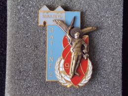"""Insignes Militaire """"9ème R.C.P. - BAT INF2 - SARAJEVO"""" -  Military Badges - - Armée De Terre"""