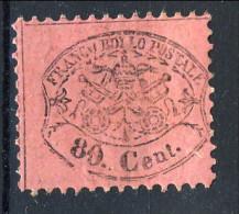 Stato Pontificio 1868, N. 31 C. 80 Lilla Rosso MH Cat. € 110 - Stato Pontificio