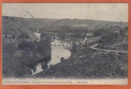 Carte Postale 36. Eguzon  La Creuse Et Le Pont Des Piles   Trés Beau Plan - France