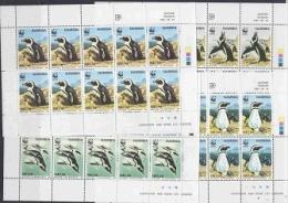 Namibia 1997 Jackass Penguins/WWF 4v  Sheetlets  ** Mnh (26622) - W.W.F.