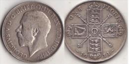 GRANDE BRETAGNE * 1 Florin  1911 - Georges V  * GREAT BRITAIN - 1902-1971 : Post-Victorian Coins