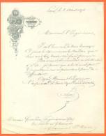"""75  Paris  """"  Courrier Etablissement De Gravure Erhard - 1878 - Stamperia & Cartoleria"""