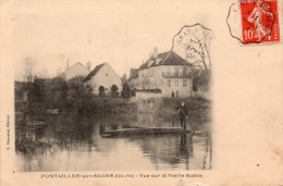 21 Pontailler Vue Sur La Vieille Saone Animée - France