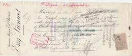 Lettre Change 24/8/1900 Eug. LIONNET Ex Chevrier Distillerie LE HAVRE Seine Maritime Pour Doulevant 52 - Lettres De Change