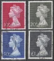 Great Britain. 1970-2 QEII Machin High Values Used Complete Set SG 829-831b. - 1952-.... (Elizabeth II)
