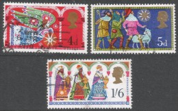 Great Britain. 1969 Christmas. Used Complete Set. SG 812-814 - Used Stamps